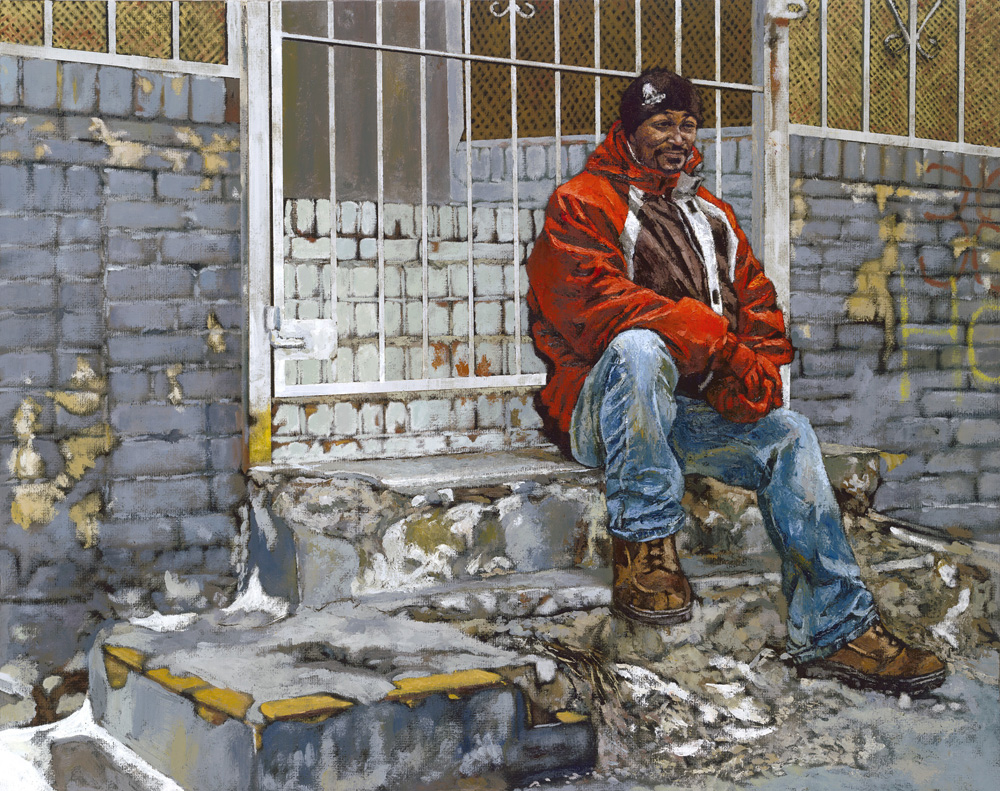 Ty - Painting by Gary L Wolfe