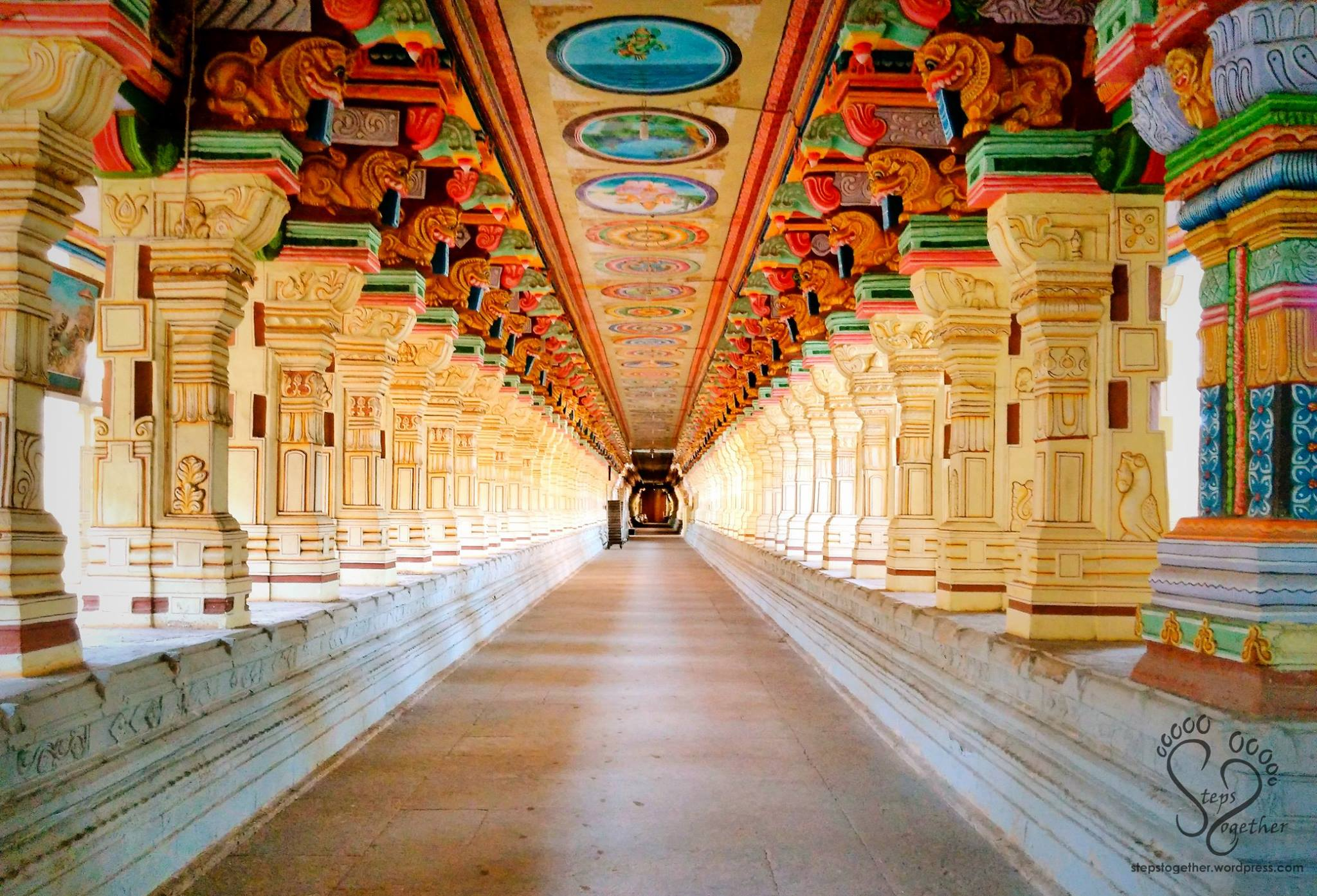 Beautiful Pillared Corridor