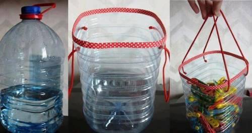 reciclagem de garrafas de plástico para prendedores de roupa