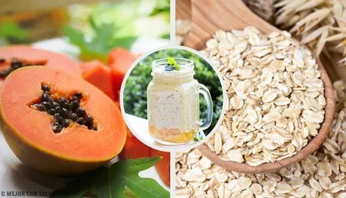 Papaya, Apple, and Oat Smoothie for Balancing Your Digestive System