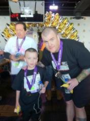image of steve and lil man at Hustle Up the Hankcock 2012 -After