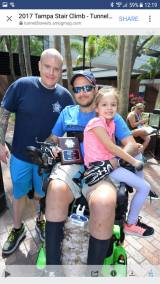 image of steve with 2 people at the Tunnel 2 Towers Tampa 2017