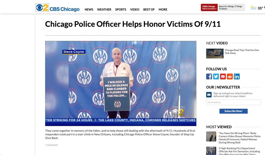 picture of steve coyle featured on cbs news