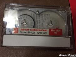 Beocord 9000 azimuth calibration tape