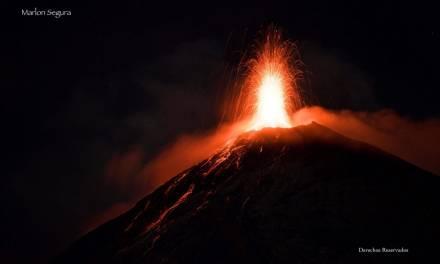 ¿Qué alertas fueron elevadas por erupción del volcán de Fuego?