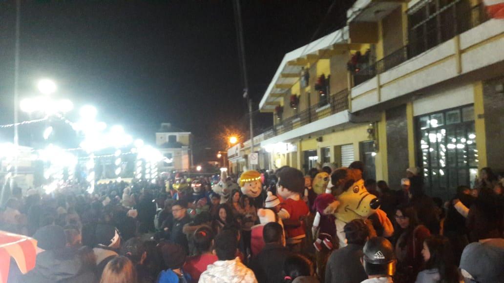 Fiesta navideña en Salcajá