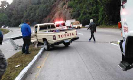Un herido deja accidente en la Interamericana