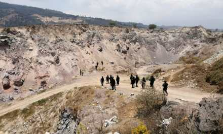 Investigan explotación minera ilegal en el Valle de Palajunoj