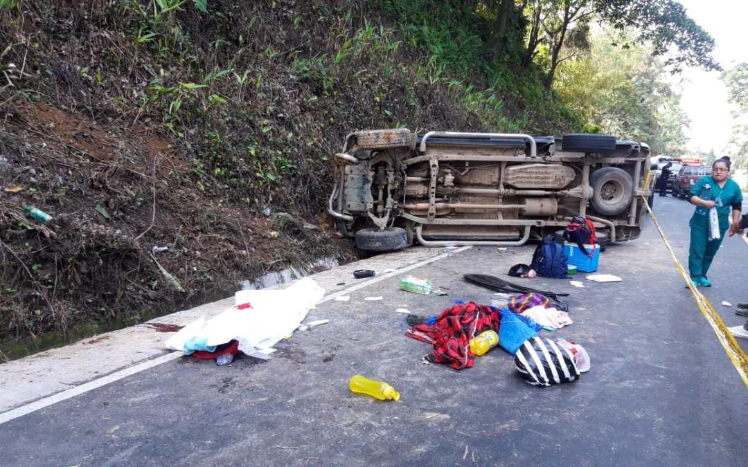 Un niño muerto y nueve heridos deja accidente en ruta Cito Zarco