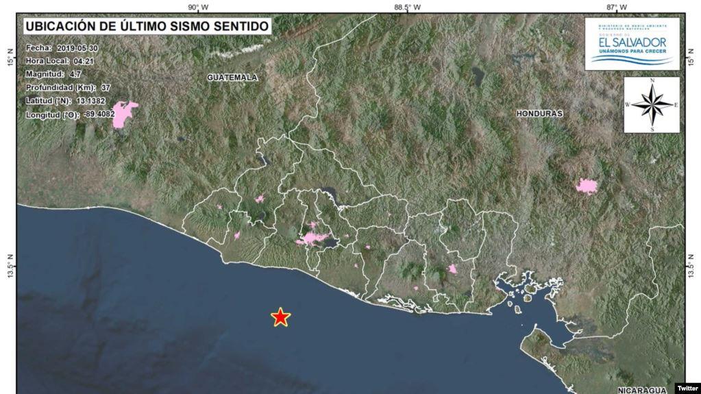 Terremoto de magnitud 6.8 grados sacude El Salvador