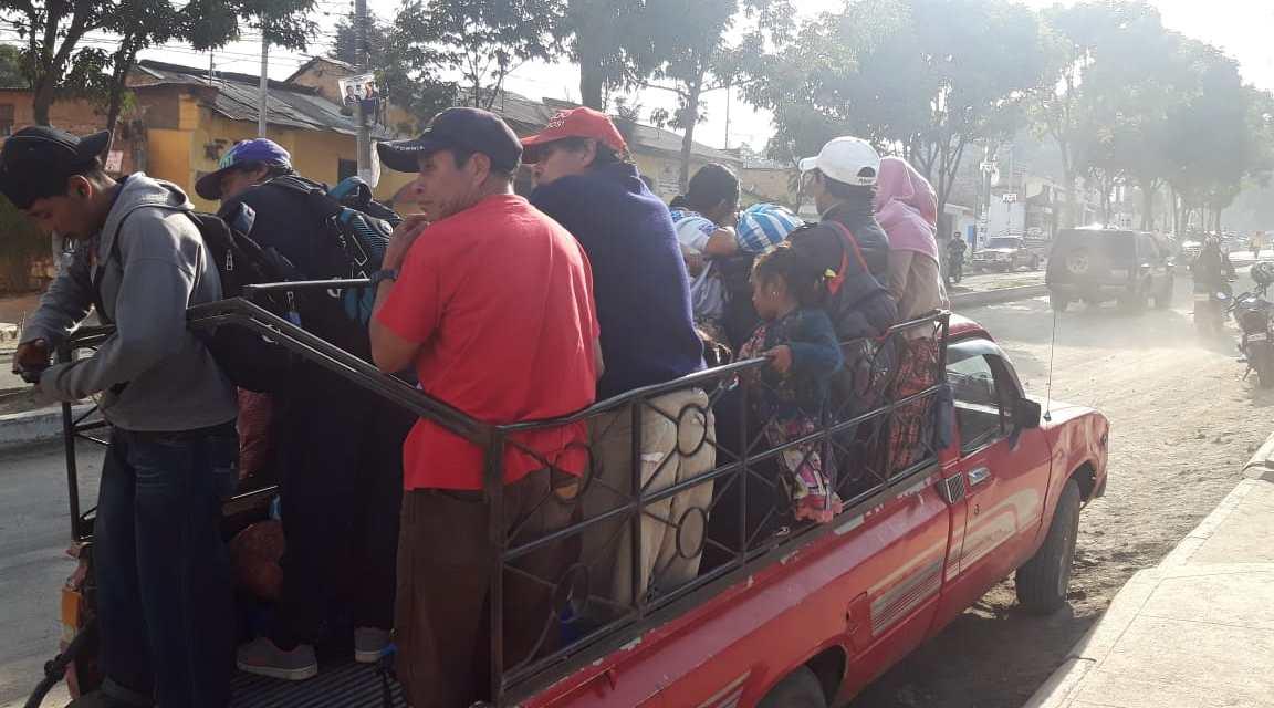 Sin transporte al Valle del Palajunoj. Aún no hay denuncias por extorsión