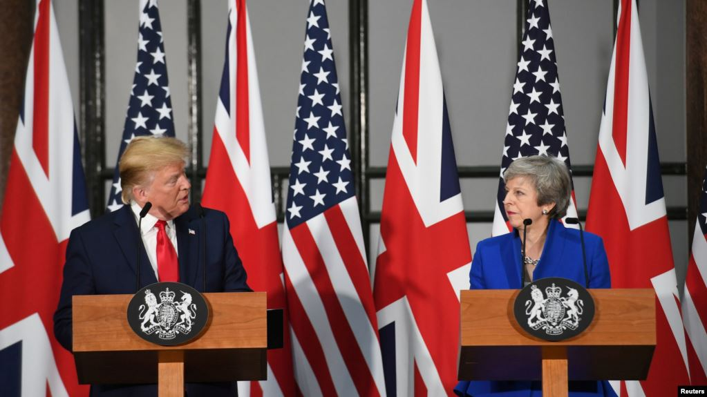 Trump promete a May «fenomenal acuerdo» tras Brexit durante su visita a Gran Bretaña