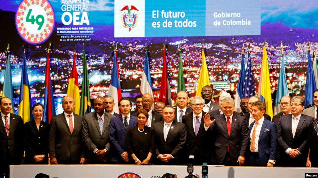 Arranca el jueves sesión plenaria de la 49 Asamblea General de la OEA en Colombia