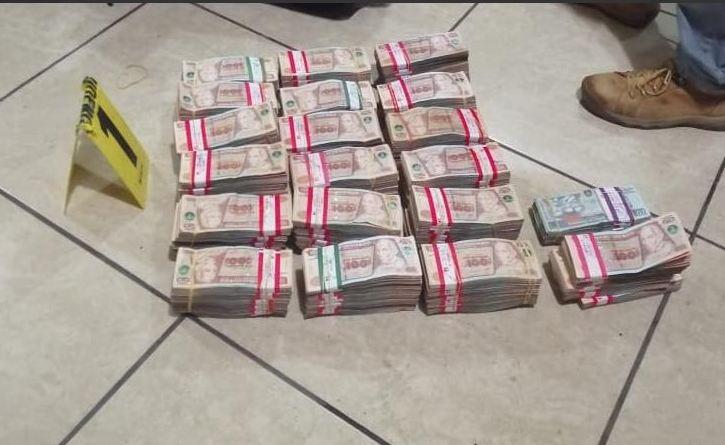 Investigan origen de más de Q1 millón incautado en Huehuetenango