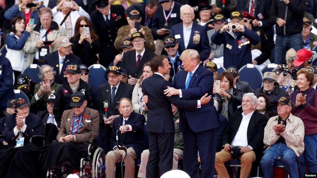 Trump en Francia conmemora el 75 aniversario del Día D