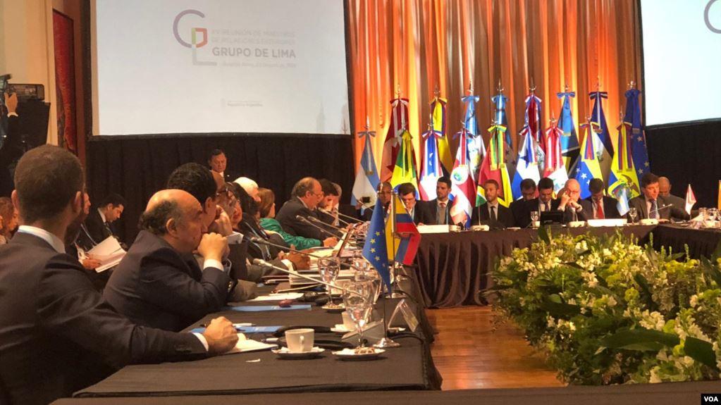 Grupo de Lima se reúne en Argentina para seguir presionando a Maduro