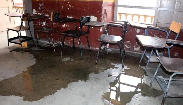 Lluvias causa daños en escuelas de Quetzaltenango