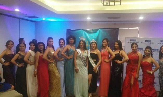 Presentan en Xela a candidatas a Miss Teen Latina
