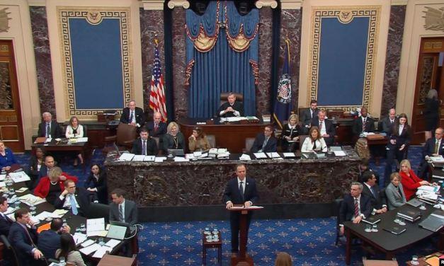 Termina tiempo de exposición de argumento demócrata en juicio político a Trump