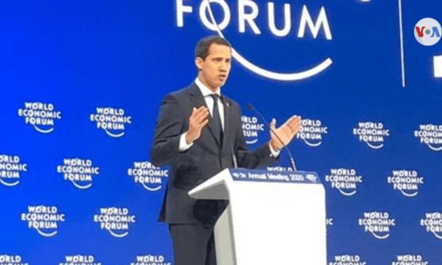 Guaidó en Davos: «No vamos a descansar hasta lograr nuestra segunda independencia»