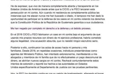 Ex ministro de Energía y Minas dice ser víctima de persecución