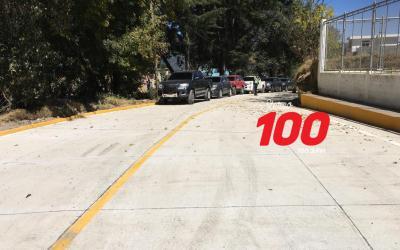 Después de más de 60 años de solicitudes, pavimentan 900 metros