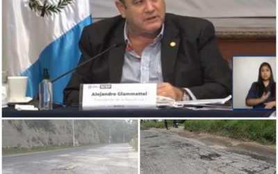 Alejandro Giammattei sobre la carretera Cito-Zarco: «Conozco el problema, pero la solución no está en mis manos»