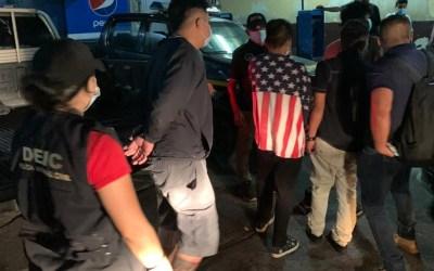 PNC captura a alias «El Sope», «El Marvicho», «El Lobo» y «El Peter» tras persecución a pie en Escuintla