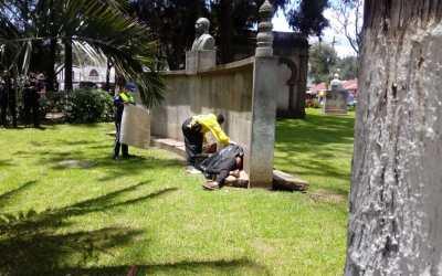 Localizan cadáver en el Parque Benito Juárez de Quetzaltenango
