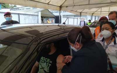 Se habilitará de nuevo puesto vehicular de vacunación en el Resguardo Militar zona 3 de Xela