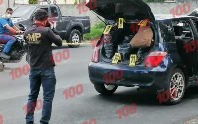 Presuntos asaltantes detenidos en Quetzaltenango llevaban producto valorado en Q28 mil