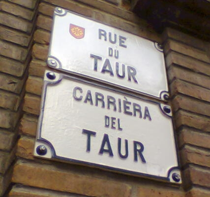 street sign in French & Occitan, Toulouse