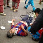 Mototaxista sufrió lesiones tras chocar su vehículo con auto en cruce de avenidas Mariátegui y Micaela Bastidas