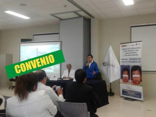 Hospital de emergencias firma convenio que beneficiará a niños de labio leporino