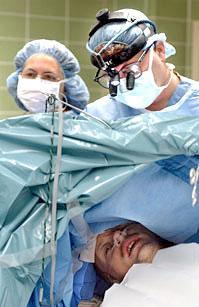 Photo of an awake craniotomy