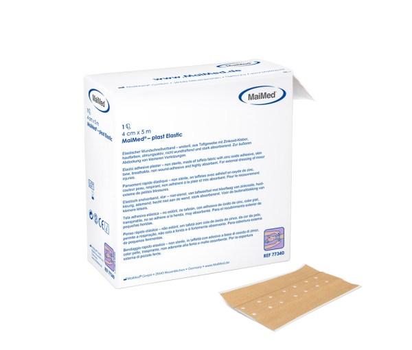 MaiMed® – plast Elastic 4 cm x 5 m | elastischer Wundschnellverband - elastisches Wundpflaster