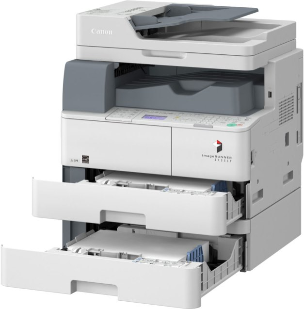 canon imagerunner copier 1435if drawers pulled out
