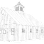 Alfond Draft Horse Barn Drawing