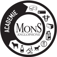black and white logo of Mons Anglophone cheese