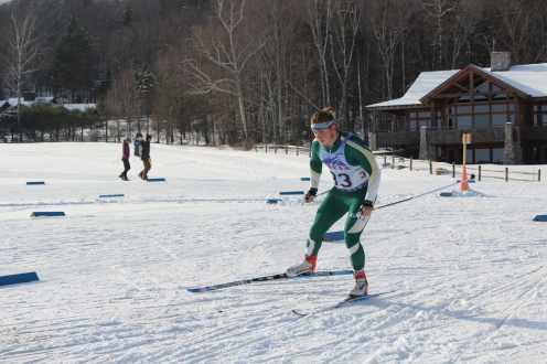 Sterling Student cross country skiing