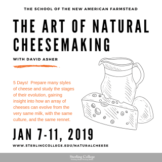 Flyer for The Art of Natural Cheesemaking