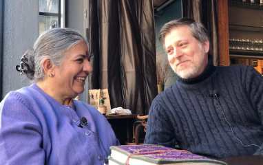 President Matthew Derr with Vandana Shiva in NYC