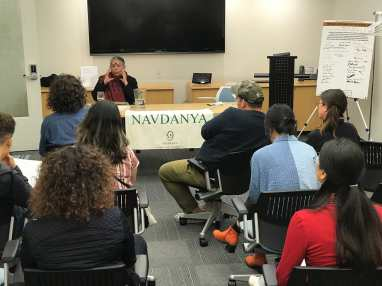 workshop with Vandana Shiva