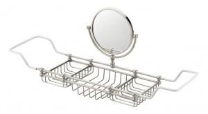 bath rack with mirror