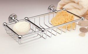 double soap and sponge basket