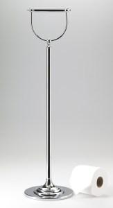 freestanding brass paper holder