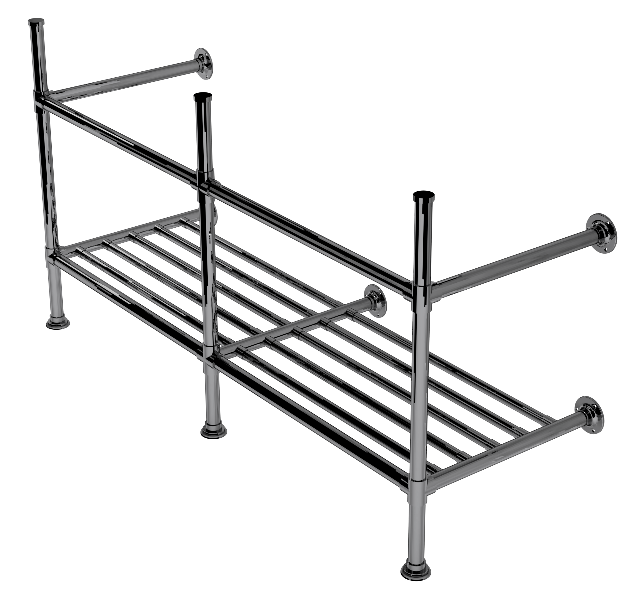 artisan three leg basin stand with rack