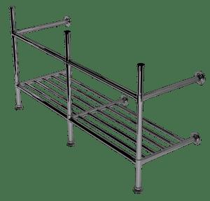 artisan three leg basin stand with rack