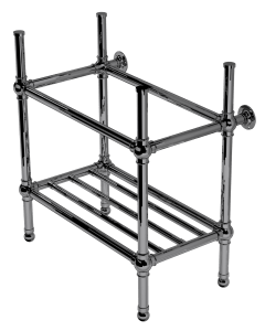 flair four leg basin stand with rack