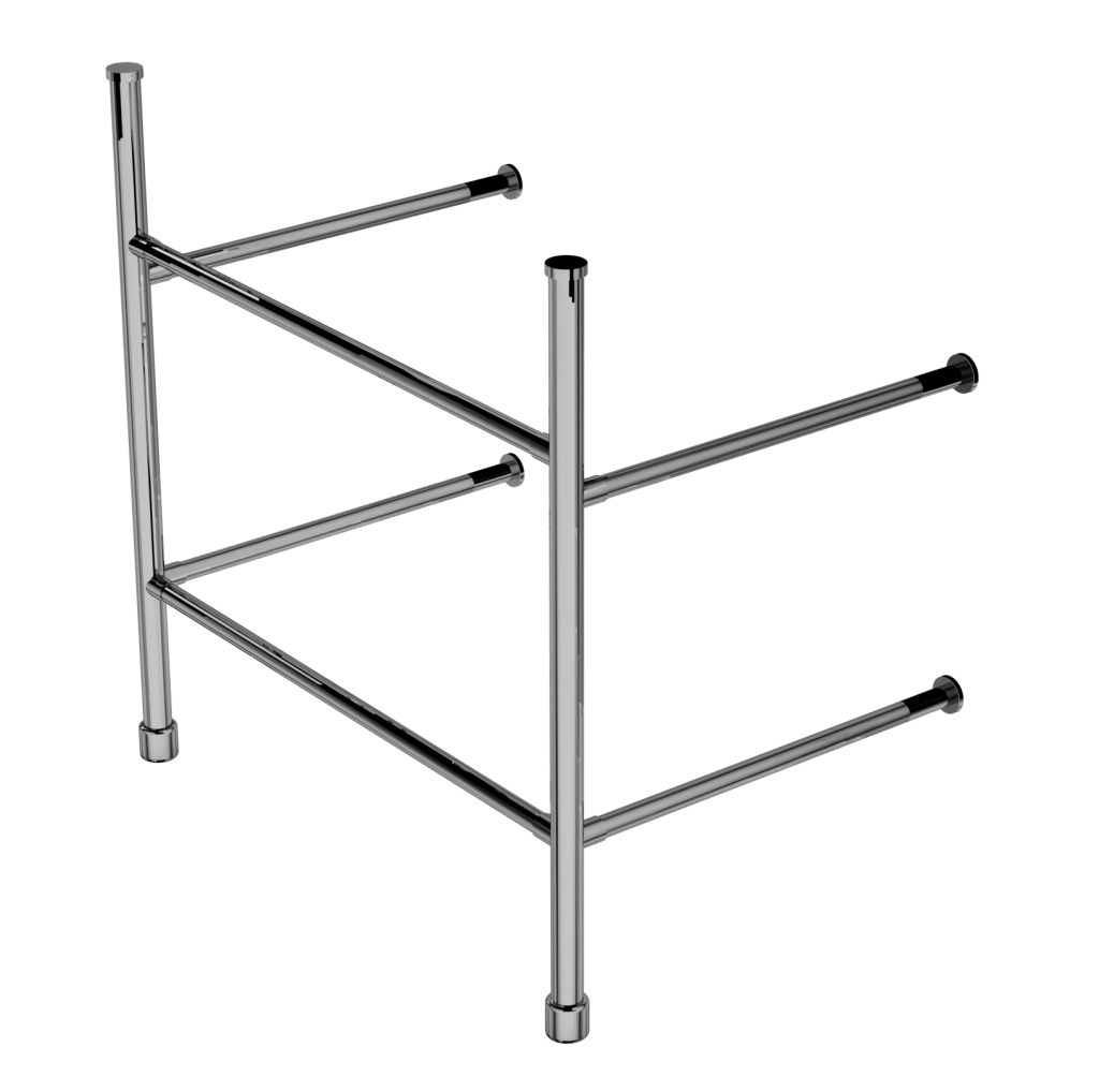 contemporary two leg basin stand with shelf support